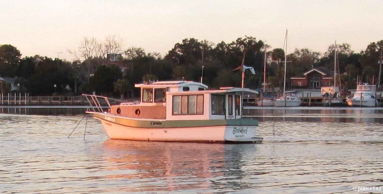 Janice Aboard Seaweed Trawler Cruising On A Nickel Budget